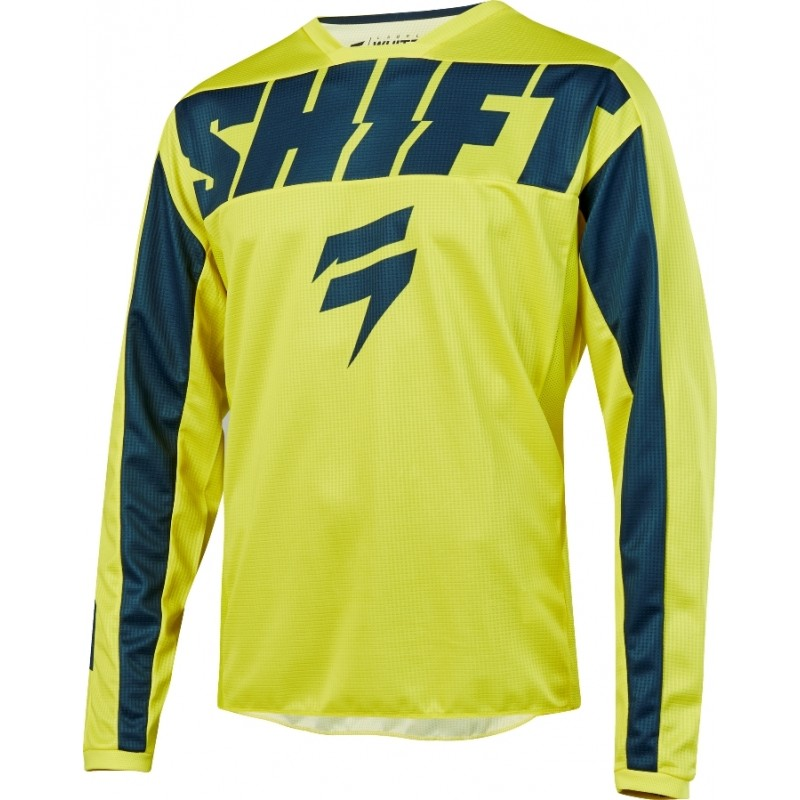 2019 Shift WHIT3 Label YORK Motocross Jersey YELLOW NAVY