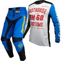 Fasthouse GRINDHOUSE Motocross Gear BLUE WORX WHITE BLUE 28 or 38 ONLY