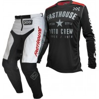 Fasthouse GRINDHOUSE Motocross Gear WHITE PHANTOM BLACK