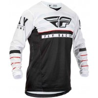 2020 Fly Racing Kinetic K120 Youth Kids Motocross Jersey Black White Red