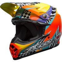 Bell Moto 9 MIPS TAGGER Breakout Motocross Helmet Orange Yellow