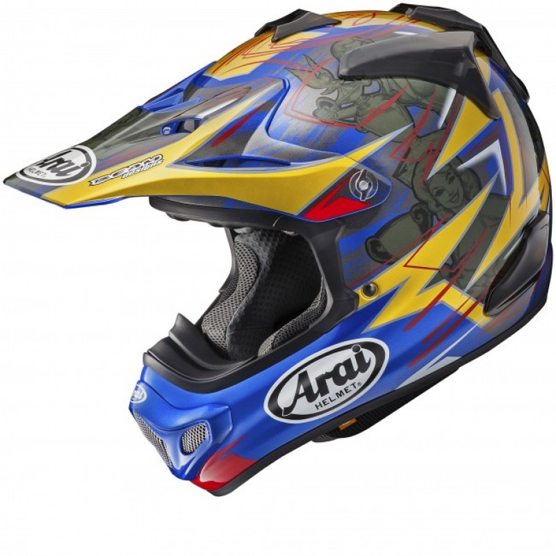 896846ab Arai MX-V Motocross Helmet MXV BROCK TICKLE REPLICA Blue