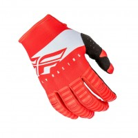 2019 Fly Racing Kinetic Shield Motocross Gloves Red White