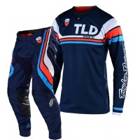 2020 Troy Lee Designs SECA TLD MX SE Motocross Gear Navy Orange