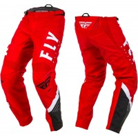 2020 Fly Racing F16 Youth Kids Motocross Pants Red Black White