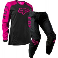 2021 Fox 180 DJET WOMENS Motocross Gear BLACK PINK