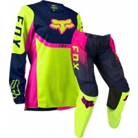 2021 Fox 180 Youth Kids Motocross Gear VOKE FLO YELLOW
