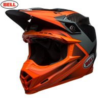 Bell Moto 9 Carbon Flex Motocross Helmet Hound Orange Charcoal