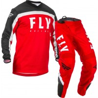 2020 Fly Racing F16 Youth Kids Motocross Gear Red Black White