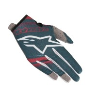 2019 Alpinestars RADAR Motocross Gloves Petrol Maroon