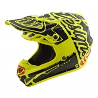 Troy Lee Designs SE4 POLY Team Factory Yellow Motocross Helmet