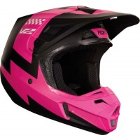 Fox V2 MASTAR Motocross Helmet BLACK PINK XL ONLY