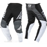 2019 Fly Racing F16 Kids Youth Motocross Pants Black White Grey