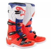 Alpinestar Tech 5 Motocross Boots FLO RED BLUE WHITE
