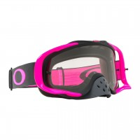 Oakley Crowbar PINK GUNMETAL Motocross Goggles CLEAR LENS