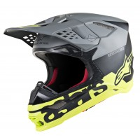Alpinestars Supertech SM-8 SM8 Radium Motocross Helmet Matte Black Grey Yellow