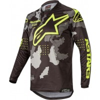 2020 Alpinestars Racer TACTICAL Camo Grey Flo Yellow Kids Youth Motocross Jersey MEDIUM ONLY