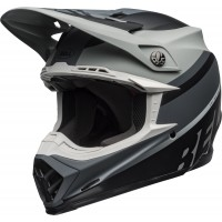 Bell Moto 9 MIPS PROPHECY Motocross Helmet Matte Black White Grey