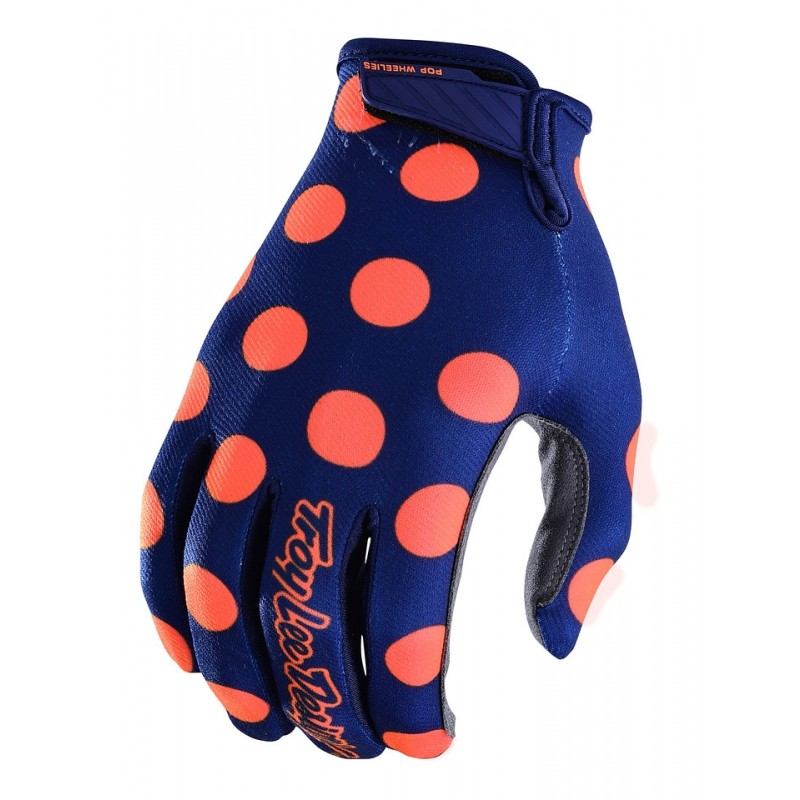Troy Lee Designs TLD GP Air Motocross Glove Polka Dot Navy Orange XL or XXL ONLY
