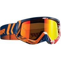 Thor MX Sniper GEO Motocross Goggles Navy Orange Red