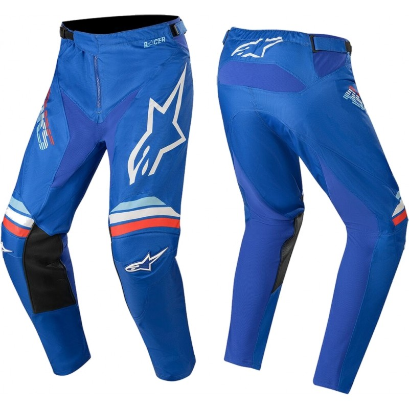 2020 Alpinestars Racer BRAAP Blue Off White Motocross Pants