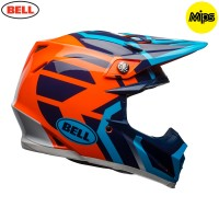 Bell Moto 9 Motocross Helmet District Blue Orange