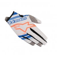 2019 Alpinestars RADAR Motocross Gloves Grey Blue Flou Orange