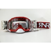 Rip n Roll Colossus WVS Platinum Roll Off Motocross Goggles Red