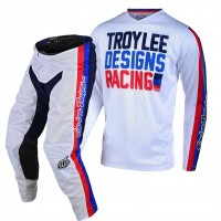 Troy Lee Designs PREMIX Youth Kids TLD GP Air Motocross Gear WHITE