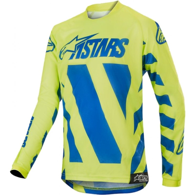 2019 Alpinestars Racer BRAAP Blue Yellow Kids Youth Motocross Jersey YXL ONLY