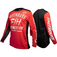 Fasthouse DICKSON Motocross Jersey RED XL ONLY
