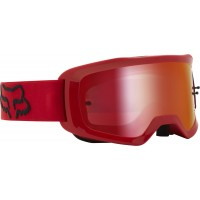2021 Fox Main 2.0 STRAY Motocross Goggles FLAME RED with Spark Lens