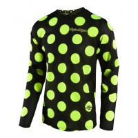 Troy Lee Designs GP AIR Polka Dot Motocross Jersey Black Yellow XL ONLY