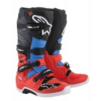 Alpinestars Tech 7 Motocross Boots FLO RED CYAN GREY BLACK UK7 or UK11 ONLY