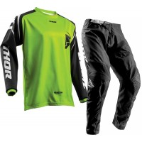 Thor Sector ZONES Motocross Gear BLACK LIME