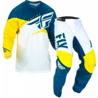 2019 Fly Racing F16 Kids Youth Motocross Gear Yellow White Navy 24 ONLY