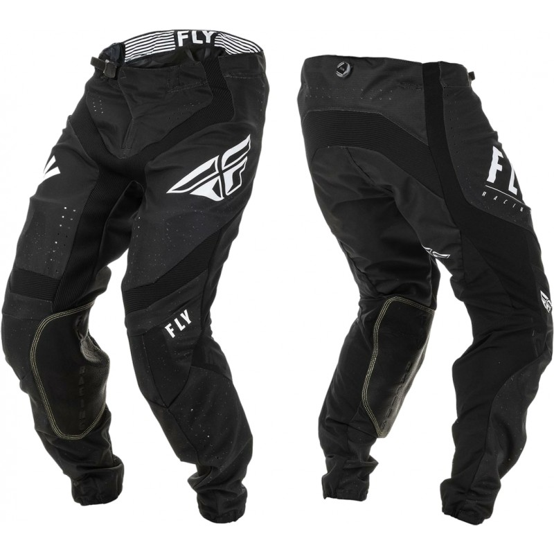2020 Fly Racing Lite Hydrogen Motocross Pants BLACK WHITE