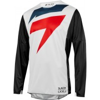 2019 Shift 3LACK LABEL MAINLINE Motocross Jersey BLACK WHITE