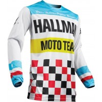 Thor MX Hallman Heater Motocross Jersey White Blue