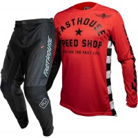 Fasthouse Grindhouse Offroad Enduro Gear BLACK ORIGINALS AC RED