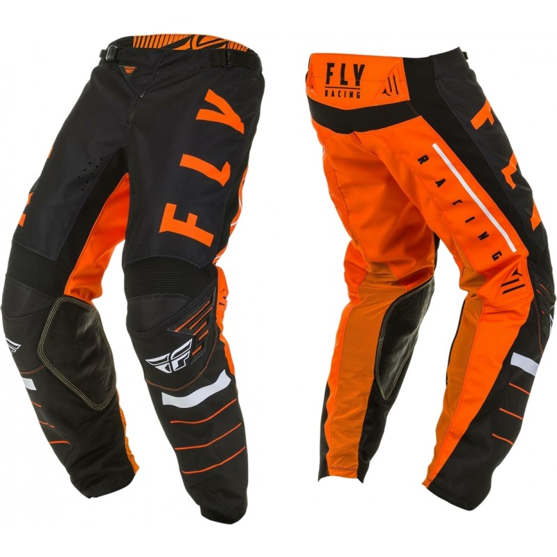 2020 Fly Racing Kinetic K120 Motocross Pants Orange Black White