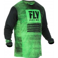 2019 Fly Racing Kinetic Noiz Kids Youth Motocross Jersey Green Black XL ONLY