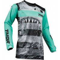 2019 Thor MX Pulse Savage Jaws Motocross Jersey Mint Black