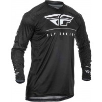 2020 Fly Racing Lite Hydrogen Motocross Jersey BLACK WHITE