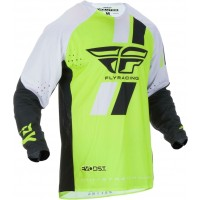 Fly Racing Evolution Motocross Jersey Hi Viz Yellow White