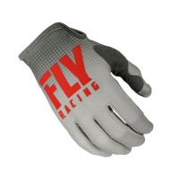 2019 Fly Racing Lite Motocross Gloves Red Grey
