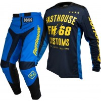 Fasthouse GRINDHOUSE Motocross Gear BLUE WORX BLUE YELLOW 28 or 38 ONLY