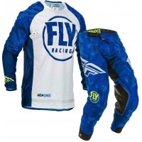 2020 Fly Racing Evolution Motocross Gear Blue White Camo