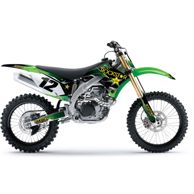 Kawasaki Rockstar KXF Motocross Graphics Kit