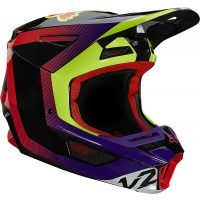 2021 Fox V2 VOKE Motocross Helmet DARK PURPLE